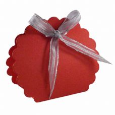 Red Scalloped Clam Designer Favour Boxes
